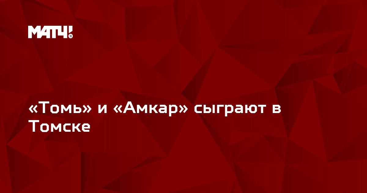 «Томь» и «Амкар» сыграют в Томске