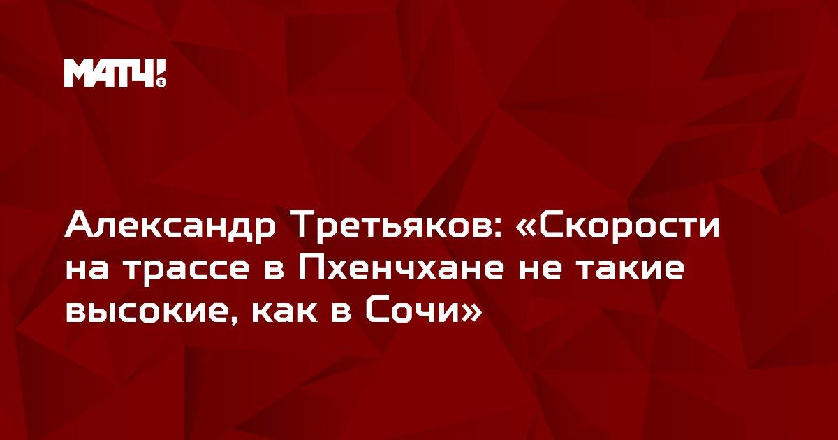 Александр Третьяков: «Скорости на трассе в Пхенчхане не такие высокие, как в Сочи»