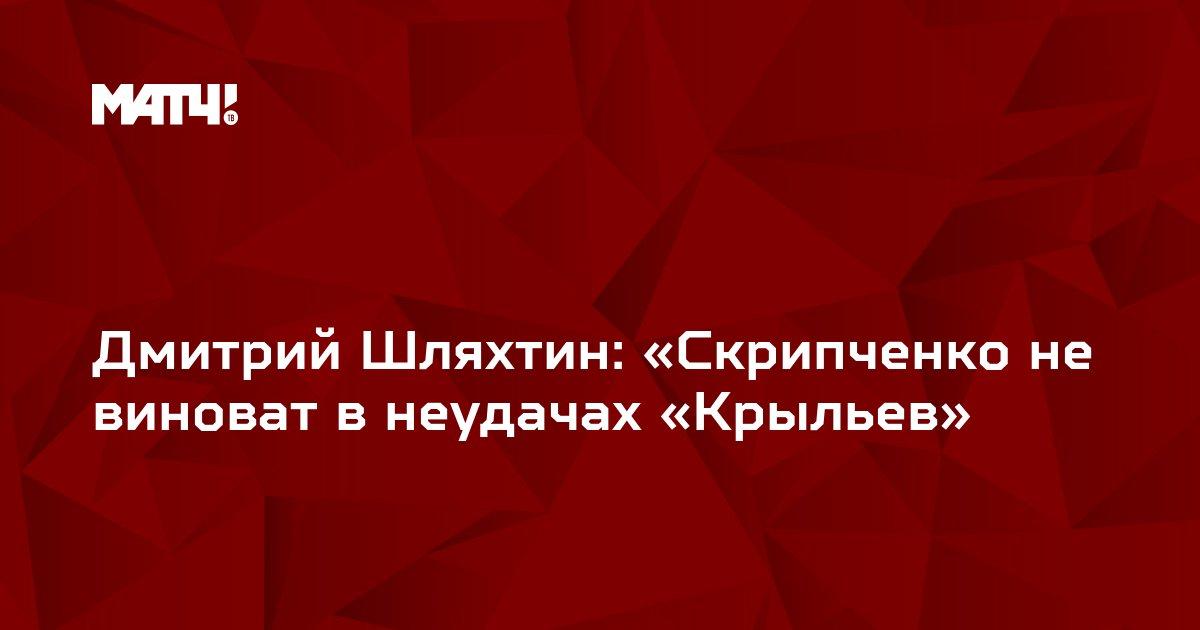 Дмитрий Шляхтин: «Скрипченко не виноват в неудачах «Крыльев»