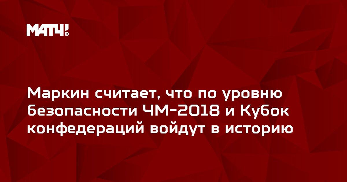 Маркин считает, что по уровню безопасности ЧМ-2018 и Кубок конфедераций войдут в историю