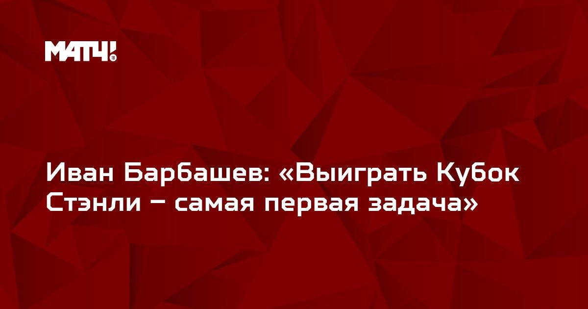 Иван Барбашев: «Выиграть Кубок Стэнли – самая первая задача»