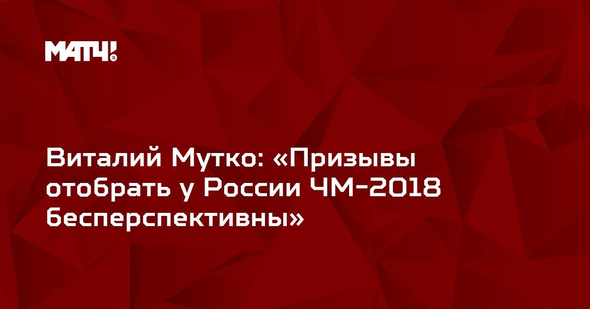 Виталий Мутко: «Призывы отобрать у России ЧМ-2018 бесперспективны»