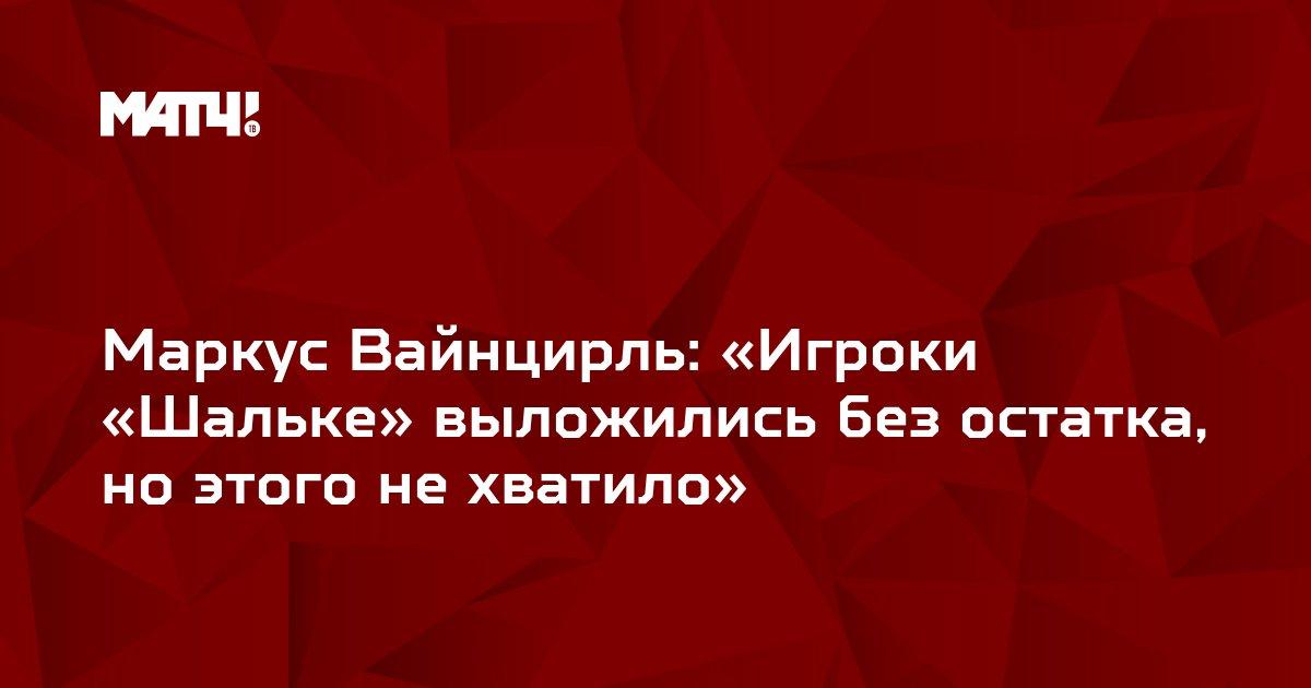 Маркус Вайнцирль: «Игроки «Шальке» выложились без остатка, но этого не хватило»