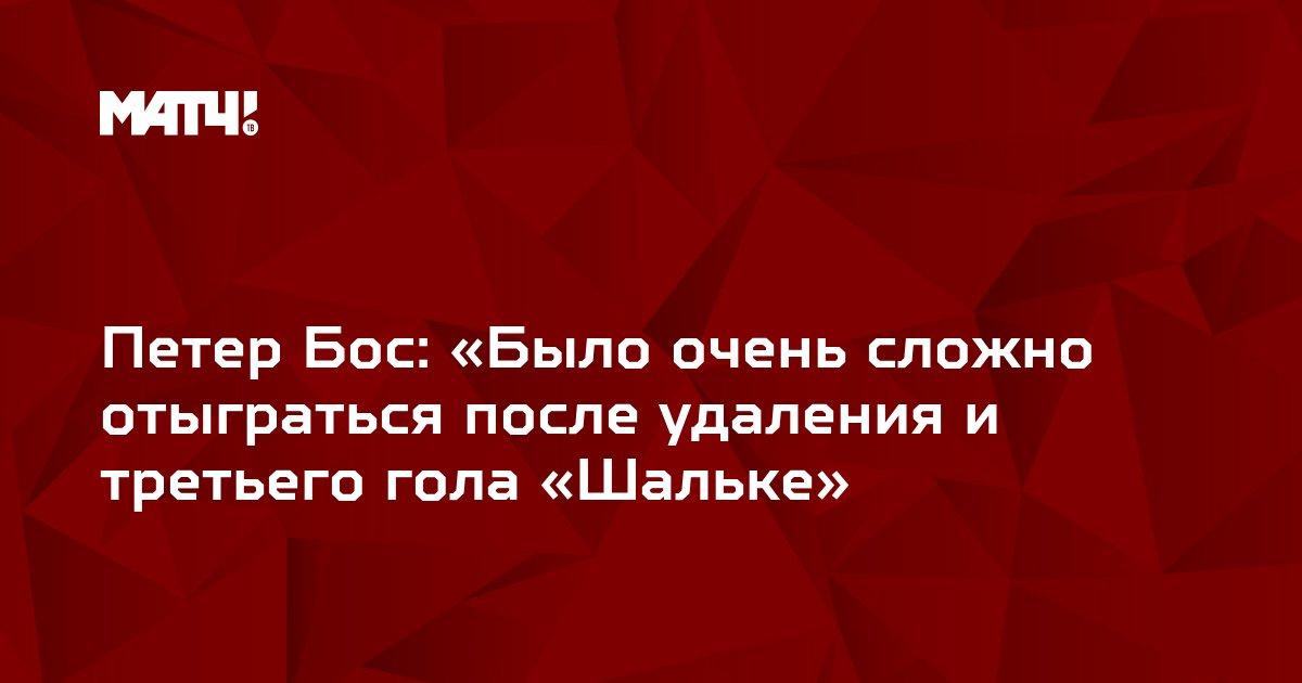 Петер Бос: «Было очень сложно отыграться после удаления и третьего гола «Шальке»