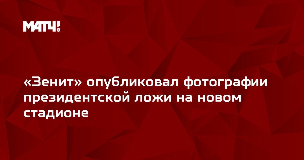«Зенит» опубликовал фотографии президентской ложи на новом стадионе