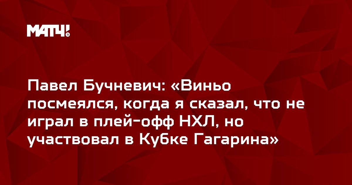 Павел Бучневич: «Виньо посмеялся, когда я сказал, что не играл в плей-офф НХЛ, но участвовал в Кубке Гагарина»