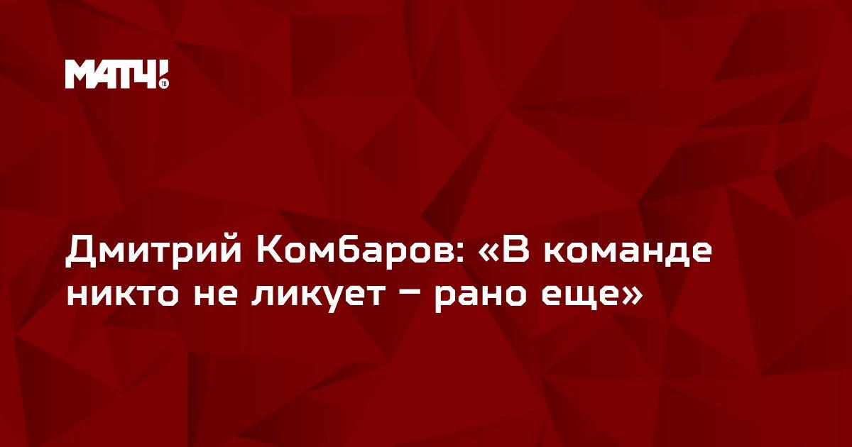 Дмитрий Комбаров: «В команде никто не ликует – рано еще»