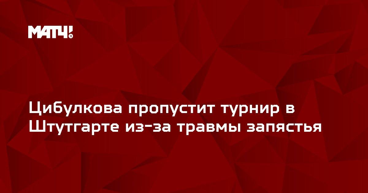 Цибулкова пропустит турнир в Штутгарте из-за травмы запястья