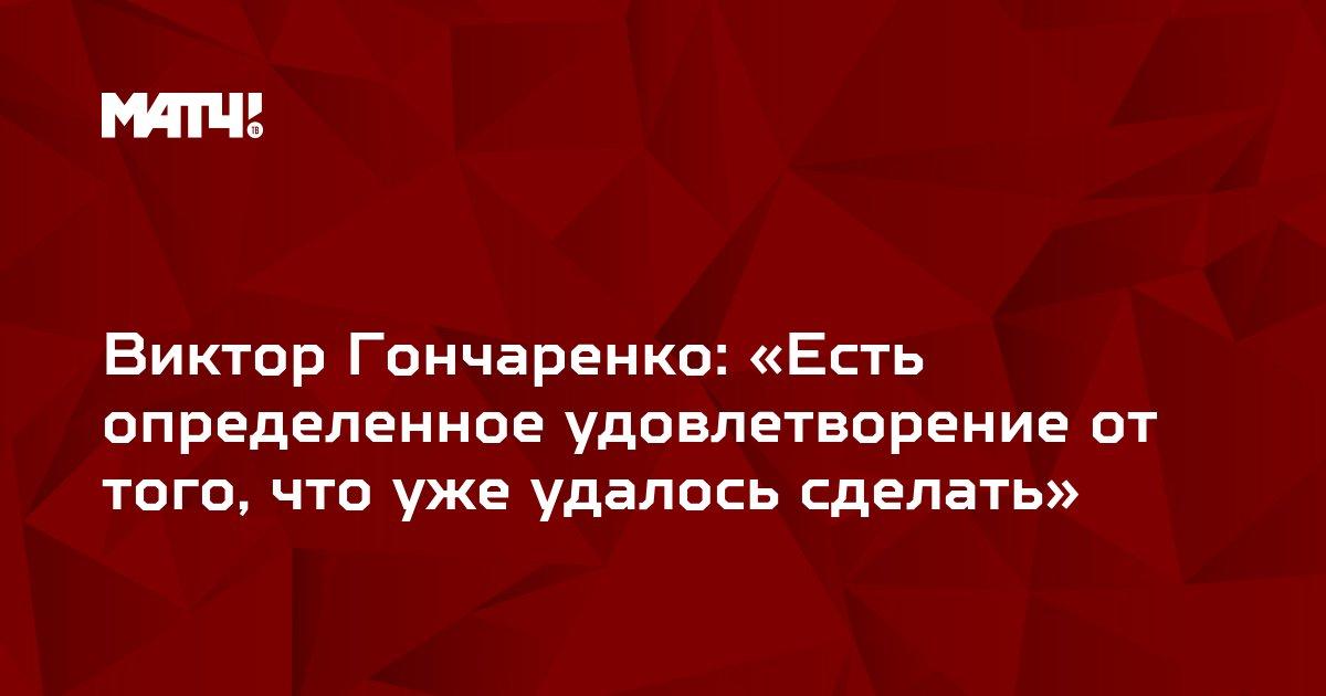 Виктор Гончаренко: «Есть определенное удовлетворение от того, что уже удалось сделать»