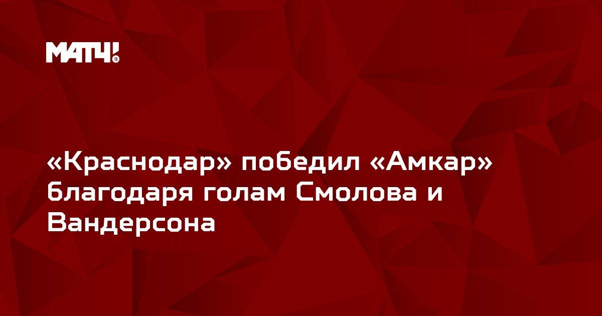 «Краснодар» победил «Амкар» благодаря голам Смолова и Вандерсона