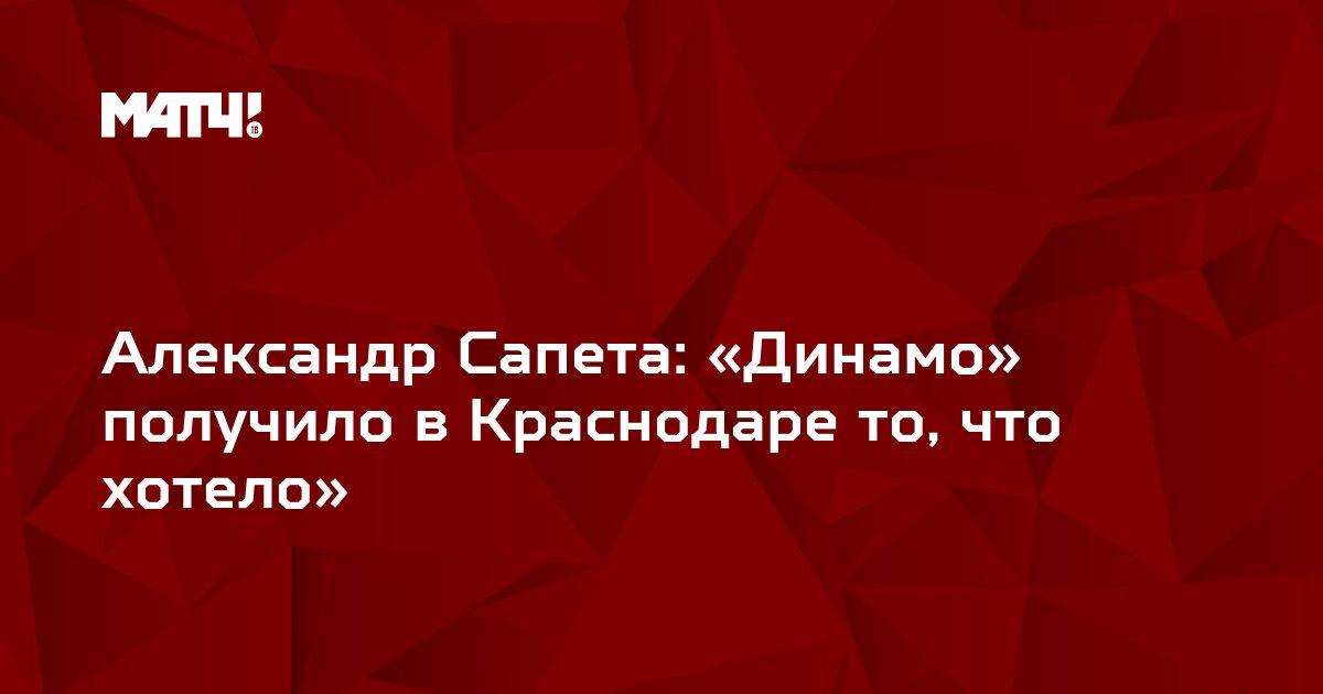 Александр Сапета: «Динамо» получило в Краснодаре то, что хотело»