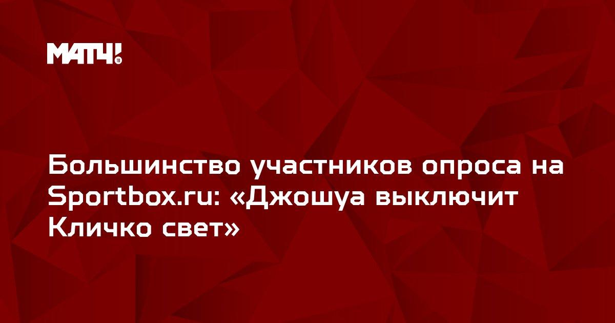 Большинство участников опроса на Sportbox.ru: «Джошуа выключит Кличко свет»
