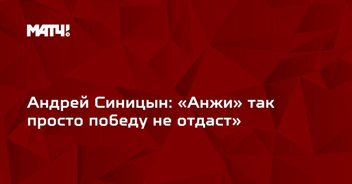 Андрей Синицын: «Анжи» так просто победу не отдаст»