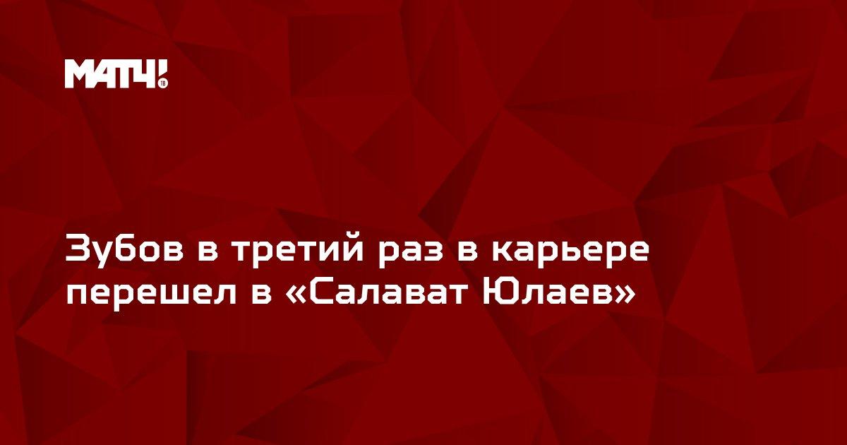 Зубов в третий раз в карьере перешел в «Салават Юлаев»