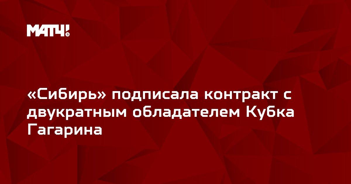 «Сибирь» подписала контракт с двукратным обладателем Кубка Гагарина