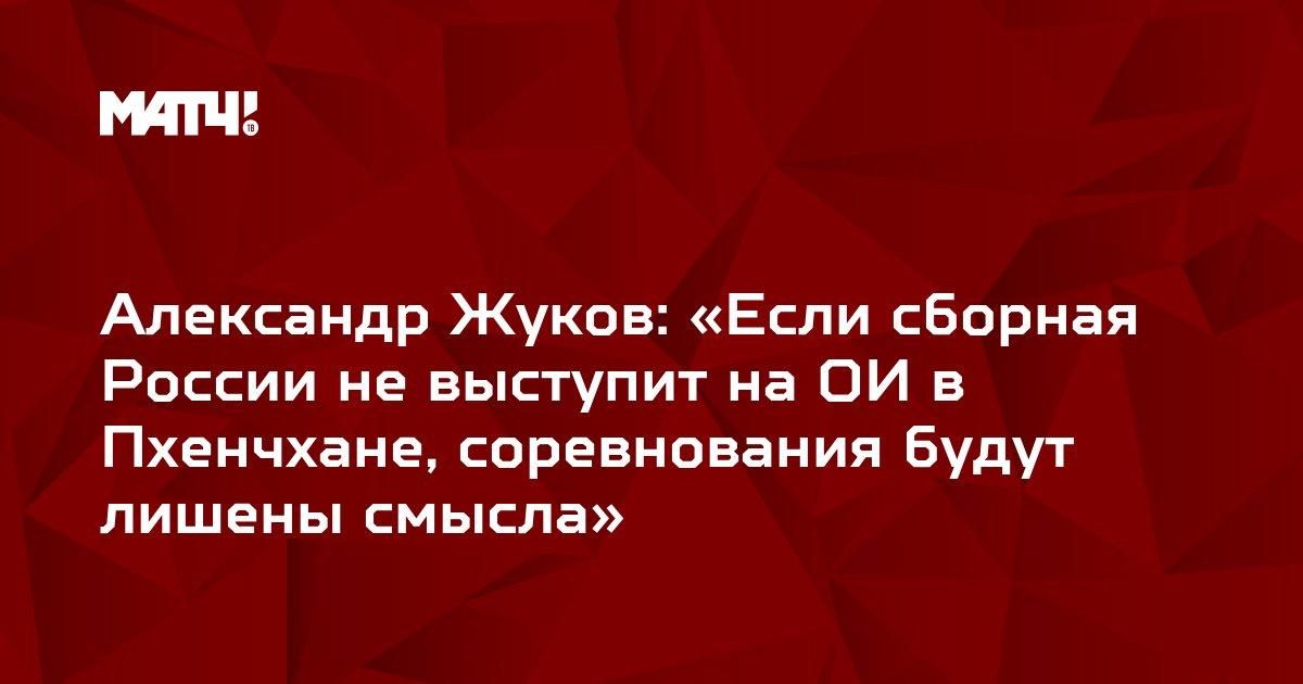 Александр Жуков: «Если сборная России не выступит на ОИ в Пхенчхане, соревнования будут лишены смысла»