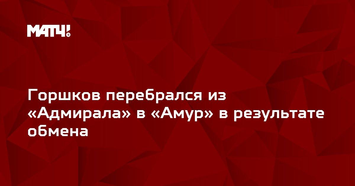 Горшков перебрался из «Адмирала» в «Амур» в результате обмена