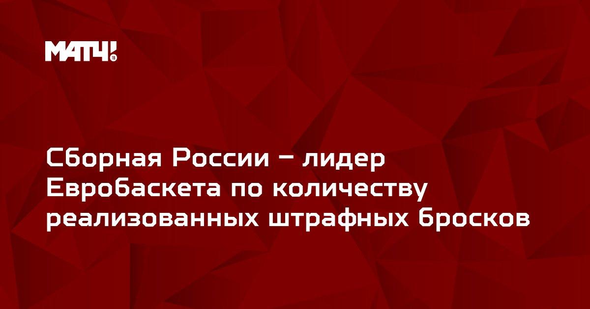 Сборная России – лидер Евробаскета по количеству реализованных штрафных бросков