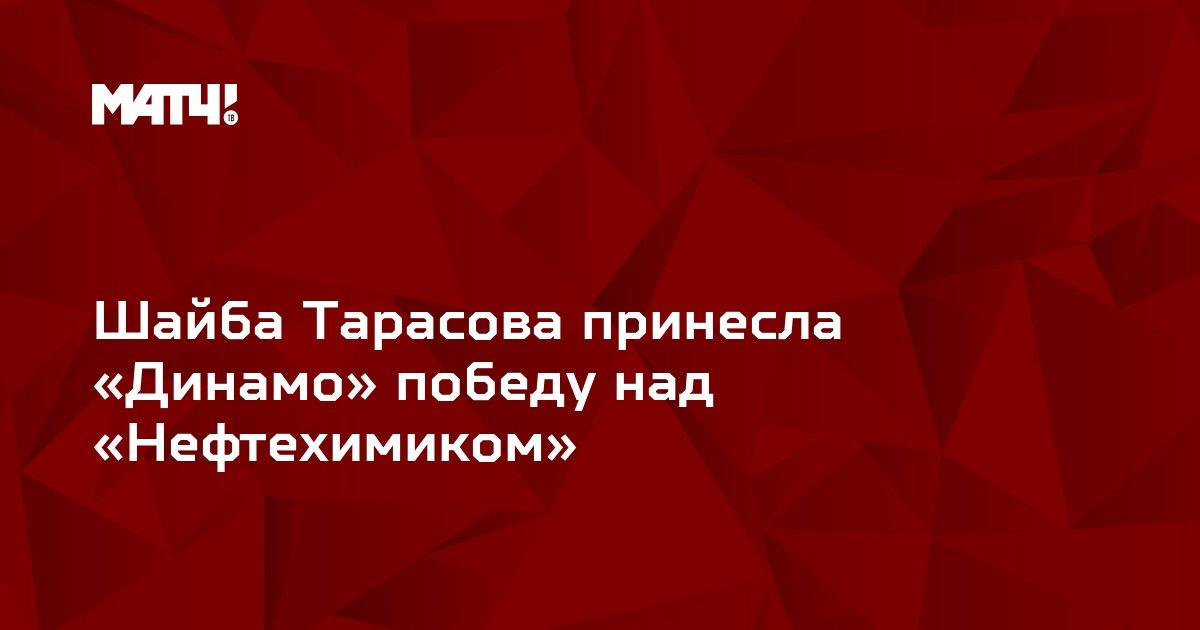 Шайба Тарасова принесла «Динамо» победу над «Нефтехимиком»