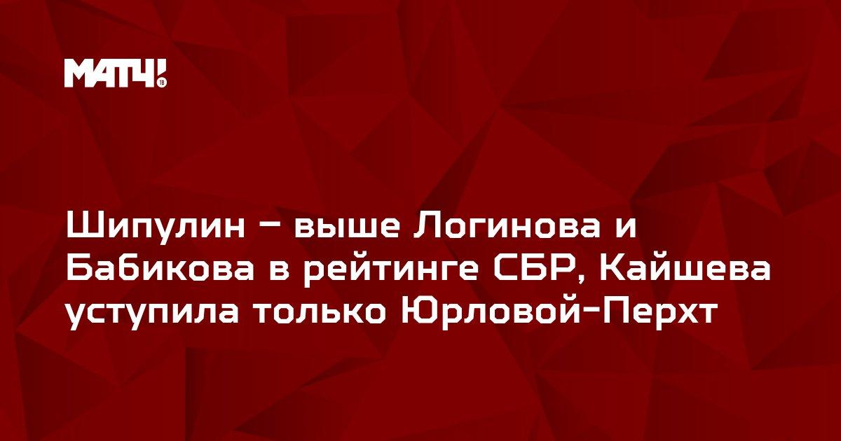 Шипулин – выше Логинова и Бабикова в рейтинге СБР, Кайшева уступила только Юрловой-Перхт