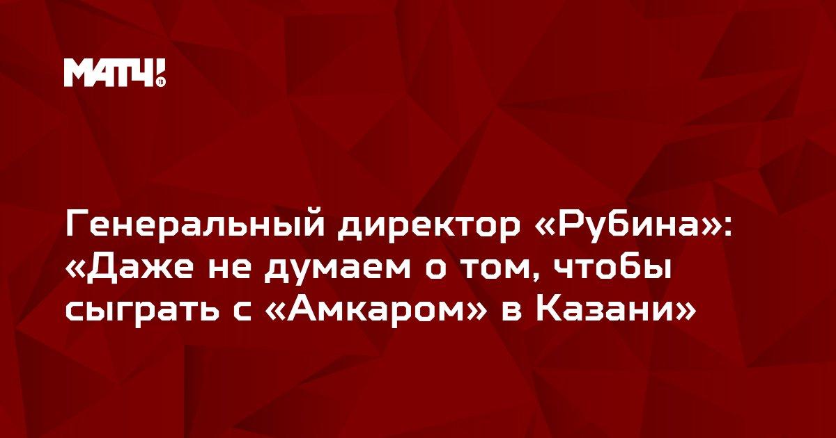 Генеральный директор «Рубина»: «Даже не думаем о том, чтобы сыграть с «Амкаром» в Казани»