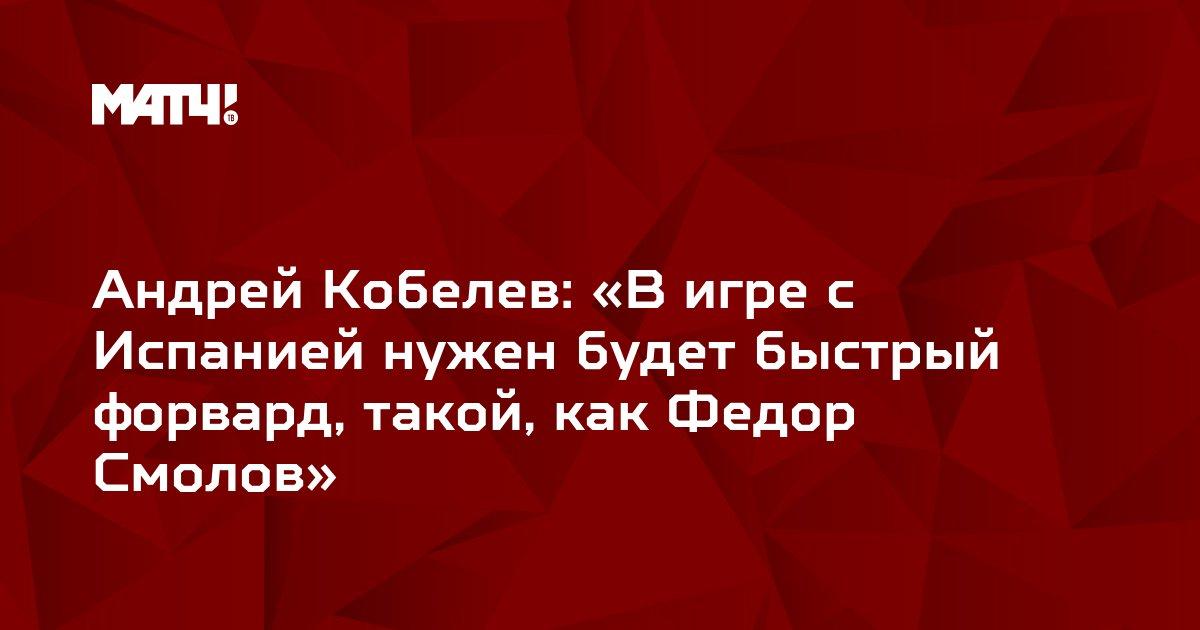 Андрей Кобелев: «В игре с Испанией нужен будет быстрый форвард, такой, как Федор Смолов»