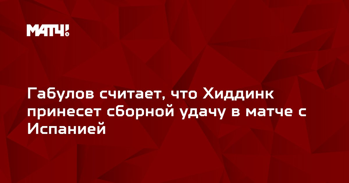 Габулов считает, что Хиддинк принесет сборной удачу в матче с Испанией