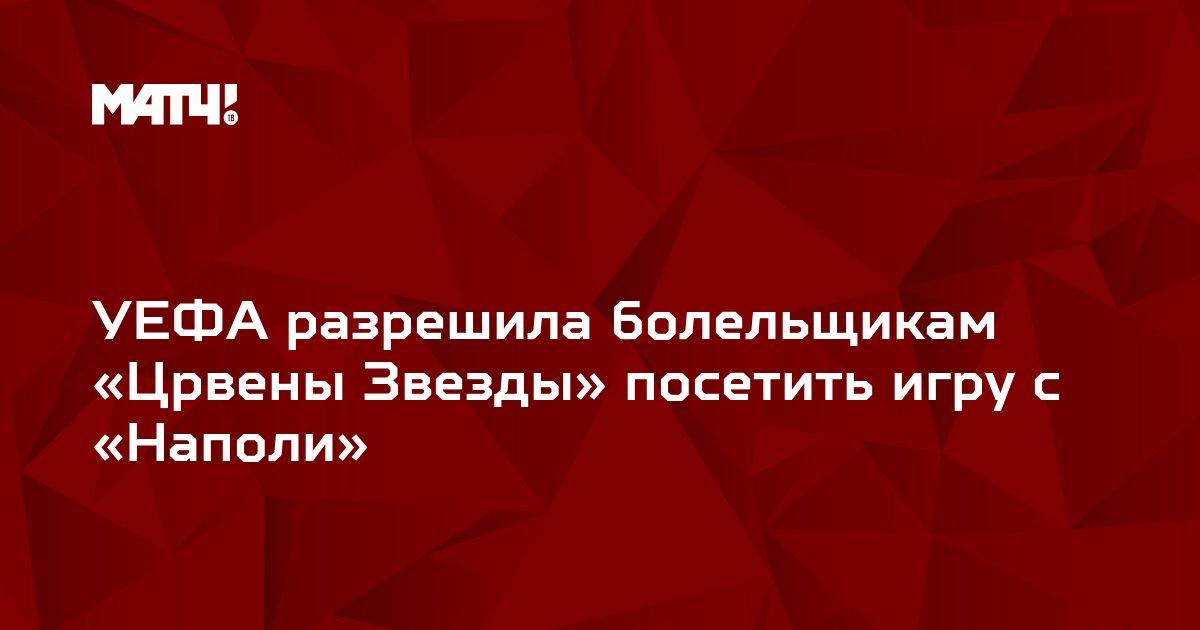 УЕФА разрешила болельщикам «Црвены Звезды» посетить игру с «Наполи»