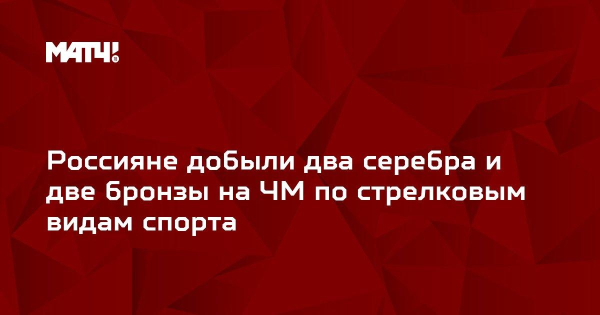Россияне добыли два серебра и две бронзы на ЧМ по стрелковым видам спорта