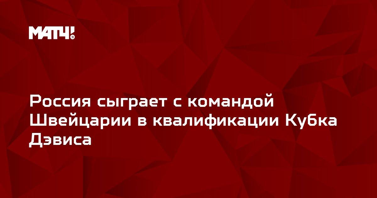 Россия сыграет с командой Швейцарии в квалификации Кубка Дэвиса