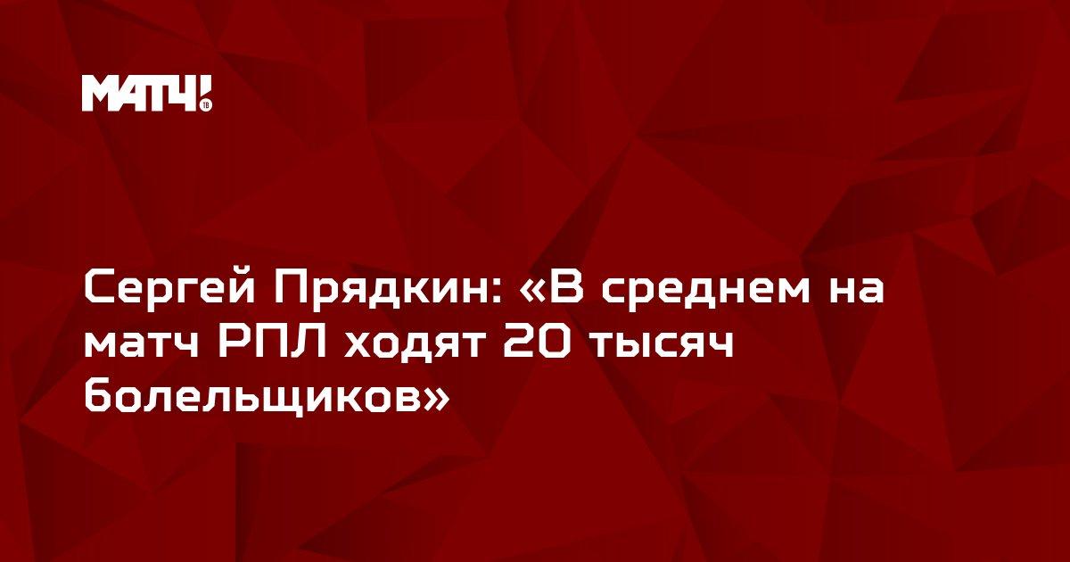 Сергей Прядкин: «В среднем на матч РПЛ ходят 20 тысяч болельщиков»