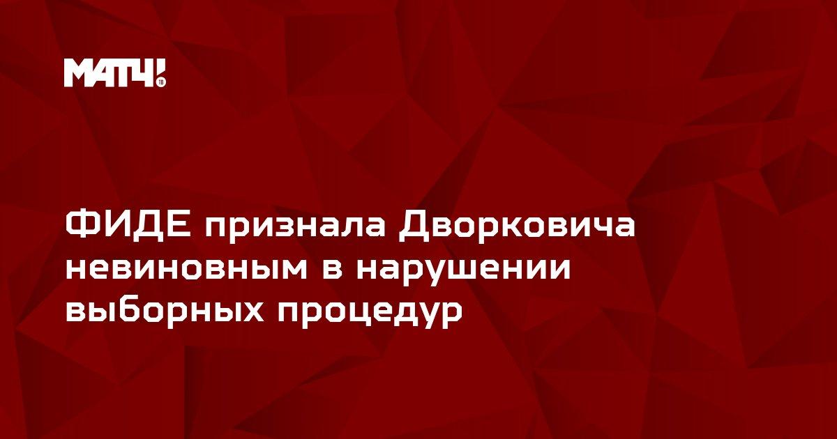 ФИДЕ признала Дворковича невиновным в нарушении выборных процедур