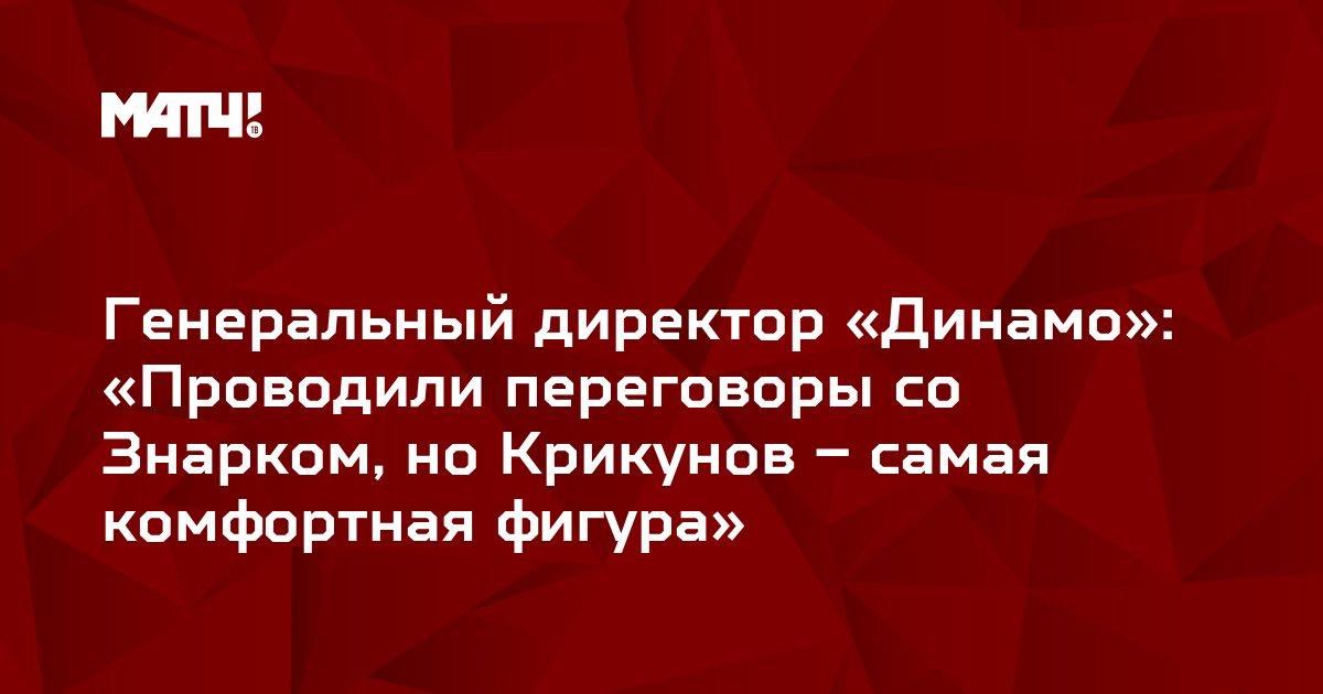 Генеральный директор «Динамо»: «Проводили переговоры со Знарком, но Крикунов – самая комфортная фигура»