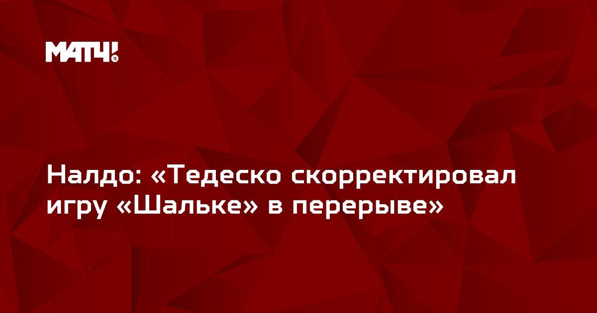 Налдо: «Тедеско скорректировал игру «Шальке» в перерыве»