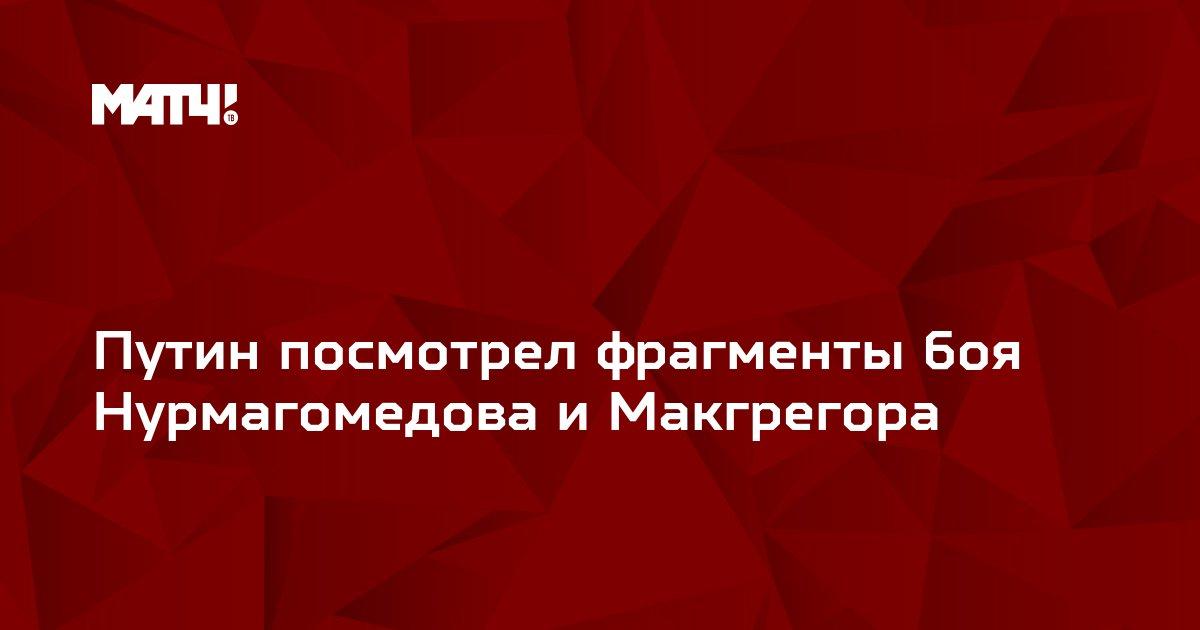 Путин посмотрел фрагменты боя Нурмагомедова и Макгрегора