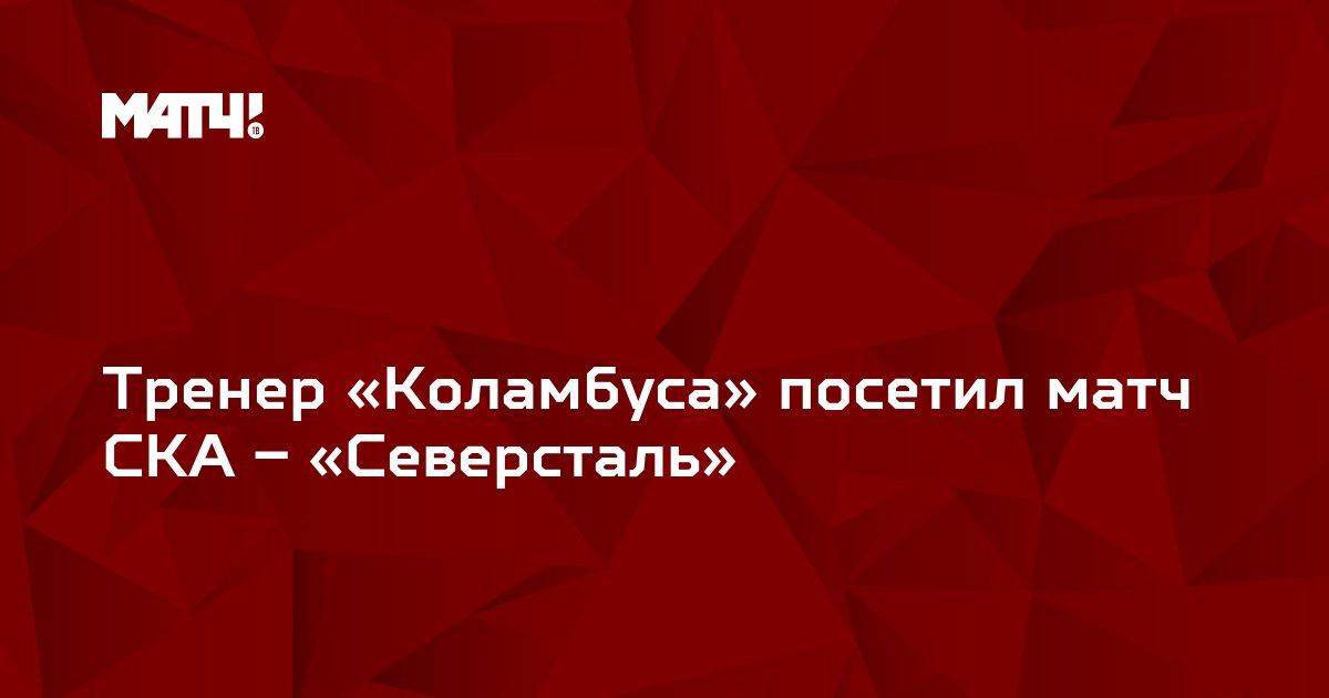 Тренер «Коламбуса» посетил матч СКА – «Северсталь»