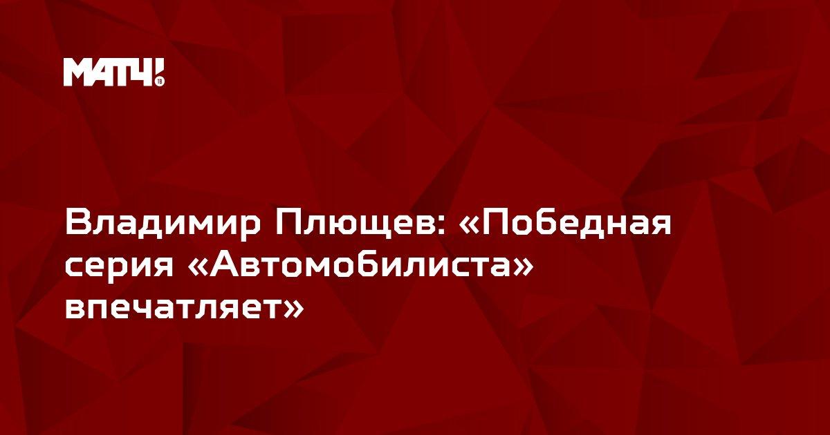 Владимир Плющев: «Победная серия «Автомобилиста» впечатляет»