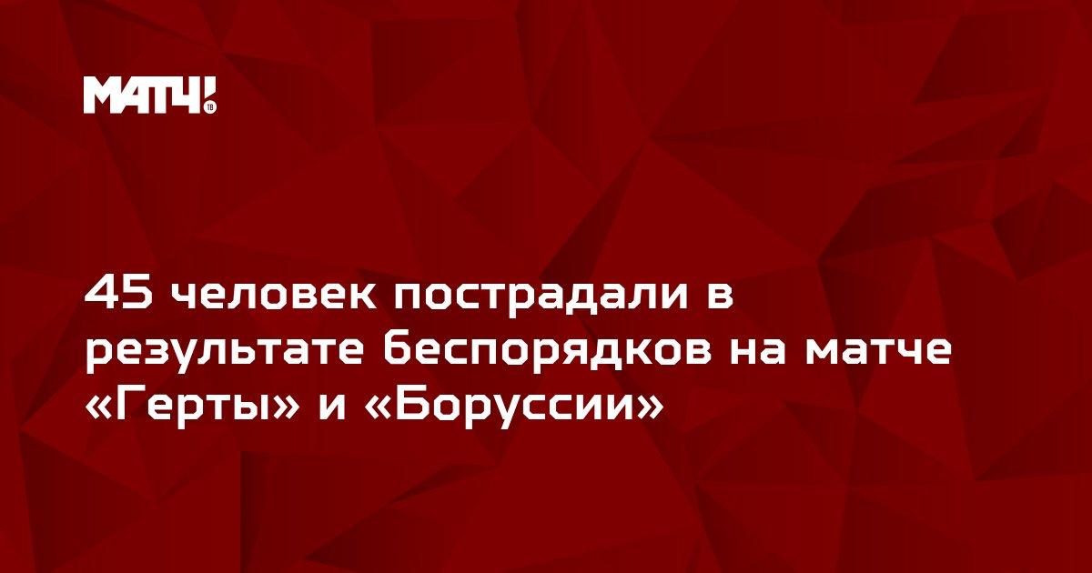 45 человек пострадали в результате беспорядков на матче «Герты» и «Боруссии»