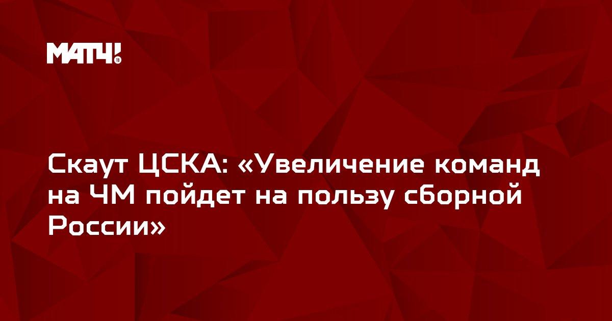 Скаут ЦСКА: «Увеличение команд на ЧМ пойдет на пользу сборной России»