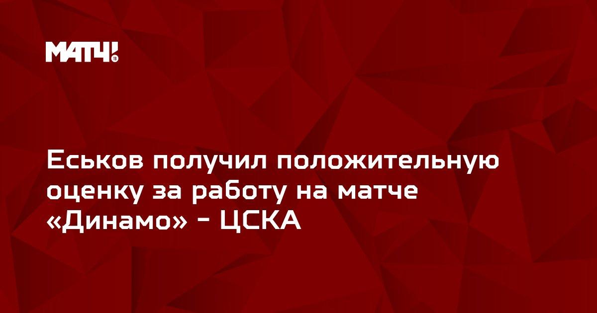 Еськов получил положительную оценку за работу на матче «Динамо» - ЦСКА