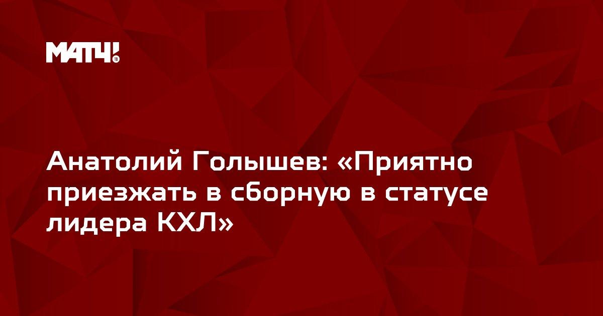 Анатолий Голышев: «Приятно приезжать в сборную в статусе лидера КХЛ»
