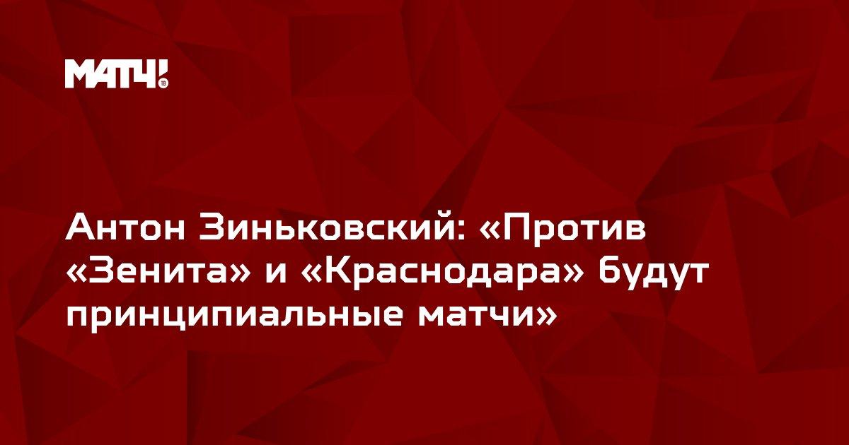 Антон Зиньковский: «Против «Зенита» и «Краснодара» будут принципиальные матчи»