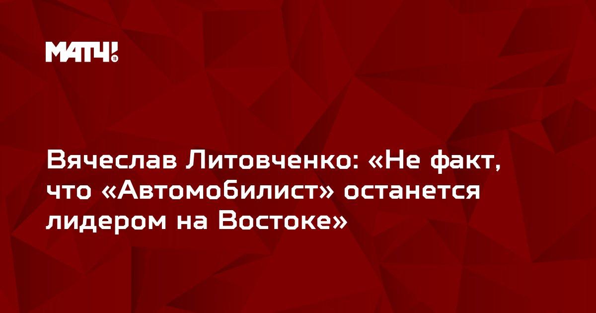 Вячеслав Литовченко: «Не факт, что «Автомобилист» останется лидером на Востоке»