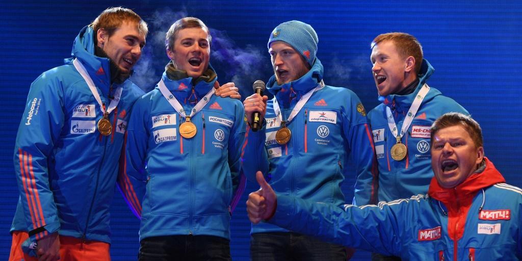 Дмитрий Губерниев спасает церемонию награждения сборной России
