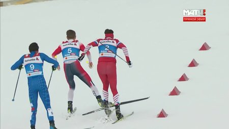 Лыжные гонки. Устюгов толкнул и похлопал по щекам Клебо после финиша