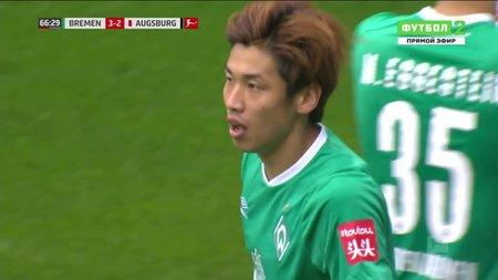Футбол германия. бундеслига вердер- аугсбург