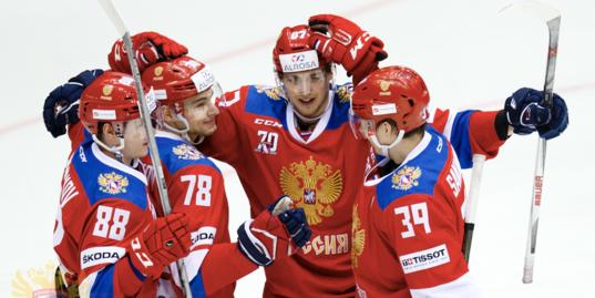 6 шайб олимпийской сборной России в матче с Францией