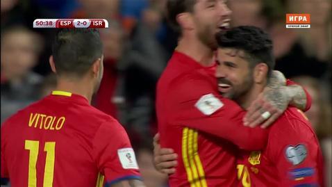 Испания - Израиль. 3:0. Диего Коста