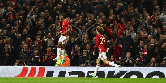 «Манчестер Юнайтед» – в полуфинале Лиги Европы: голы и лучшие моменты