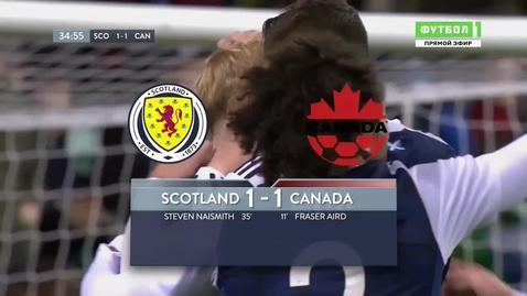 Шотландия - Канада - 1:1. Голы